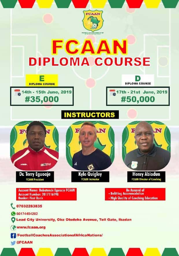 2019 FCAAN Diploma Course Flyer