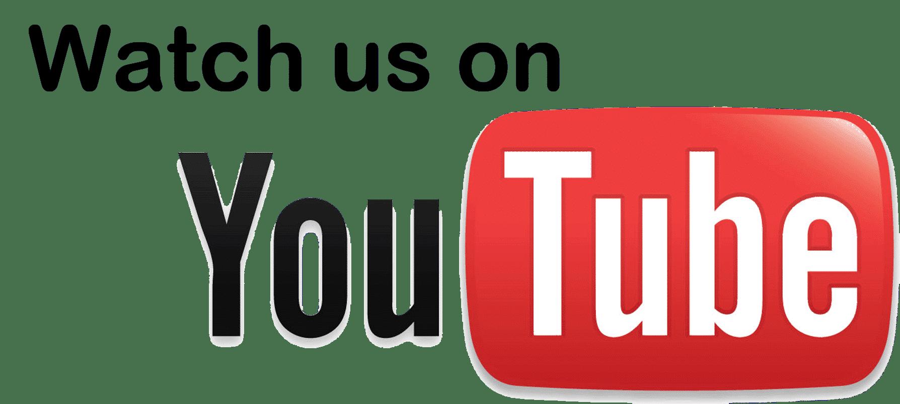watch us on YouTube logo