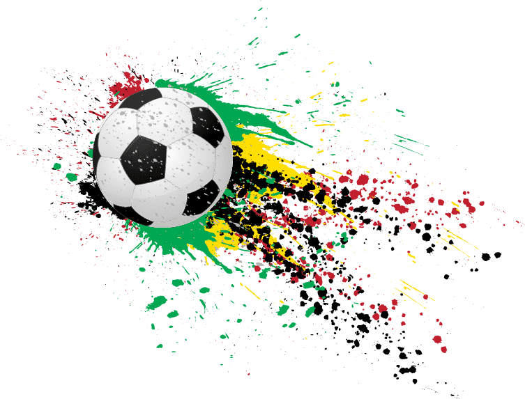 FCAAN paint splattered soccer ball