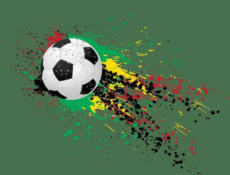 FCAAN paint splattered soccer ball